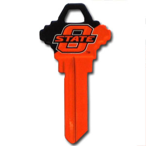Schlage Key - Oklahoma State Cowboys - College house keys are a great way to show school spirit while keeping keys organized. Keys can be cut to fit your home or office Schlage keys (reference pre-fix CQK for Kwikset keys).  Thank you for shopping with CrazedOutSports.com