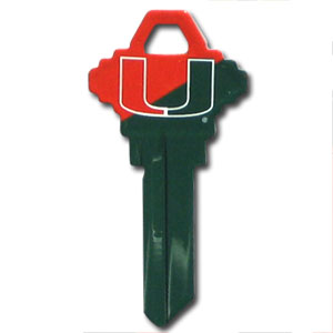 Miami Hurricanes Schlage Key - Miami Hurricanes Schlage Key College house keys are a great way to show school spirit while keeping keys organized. Miami Hurricanes Schlage Key can be cut to fit your home or office Schlage keys (reference pre-fix CQK for Kwikset keys).  Thank you for shopping with CrazedOutSports.com