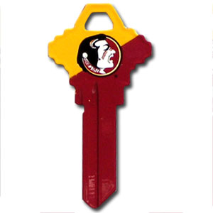 Schlage Key - Florida State Seminoles - College house keys are a great way to show Florida State Seminoles spirit while keeping keys organized. Keys can be cut to fit your home or office Schlage keys (reference pre-fix CQK for Kwikset keys).  Thank you for shopping with CrazedOutSports.com