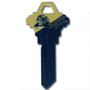 Schlage Key - Pittsburgh Panthers - College house keys are a great way to show school spirit while keeping keys organized. Keys can be cut to fit your home or office Schlage keys (reference pre-fix CQK for Kwikset keys).  Thank you for shopping with CrazedOutSports.com