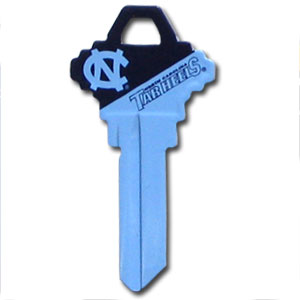 Schlage Key - North Carolina Tar Heels - College house keys are a great way to show school spirit while keeping keys organized. Keys can be cut to fit your home or office Schlage keys (reference pre-fix CQK for Kwikset keys).  Thank you for shopping with CrazedOutSports.com