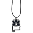 Auburn Tigers State Charm Necklace - Get in on the trend! State themes are a trend that just keeps getting more popular and these necklaces take the state style and give it a sporty twist with a Auburn Tigers added to the state outline charm. The come on a snake chain that is 22 inches long.