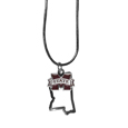 Mississippi St. Bulldogs State Charm Necklace - Get in on the trend! State themes are a trend that just keeps getting more popular and these necklaces take the state style and give it a sporty twist with a Mississippi St. Bulldogs added to the state outline charm. The come on a snake chain that is 22 inches long.
