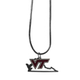 Virginia Tech Hokies State Charm Necklace - Get in on the trend! State themes are a trend that just keeps getting more popular and these necklaces take the state style and give it a sporty twist with a Virginia Tech Hokies added to the state outline charm. The come on a snake chain that is 22 inches long.