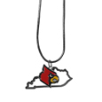 Louisville Cardinals State Charm Necklace - Get in on the trend with this Louisville Cardinals State Charm Necklace! State themes are a trend that just keeps getting more popular and these necklaces take the state style and give it a sporty twist with a Louisville Cardinals added to the state outline charm. The Louisville Cardinals State Charm Necklace comes on a snake chain that is 22 inches long.