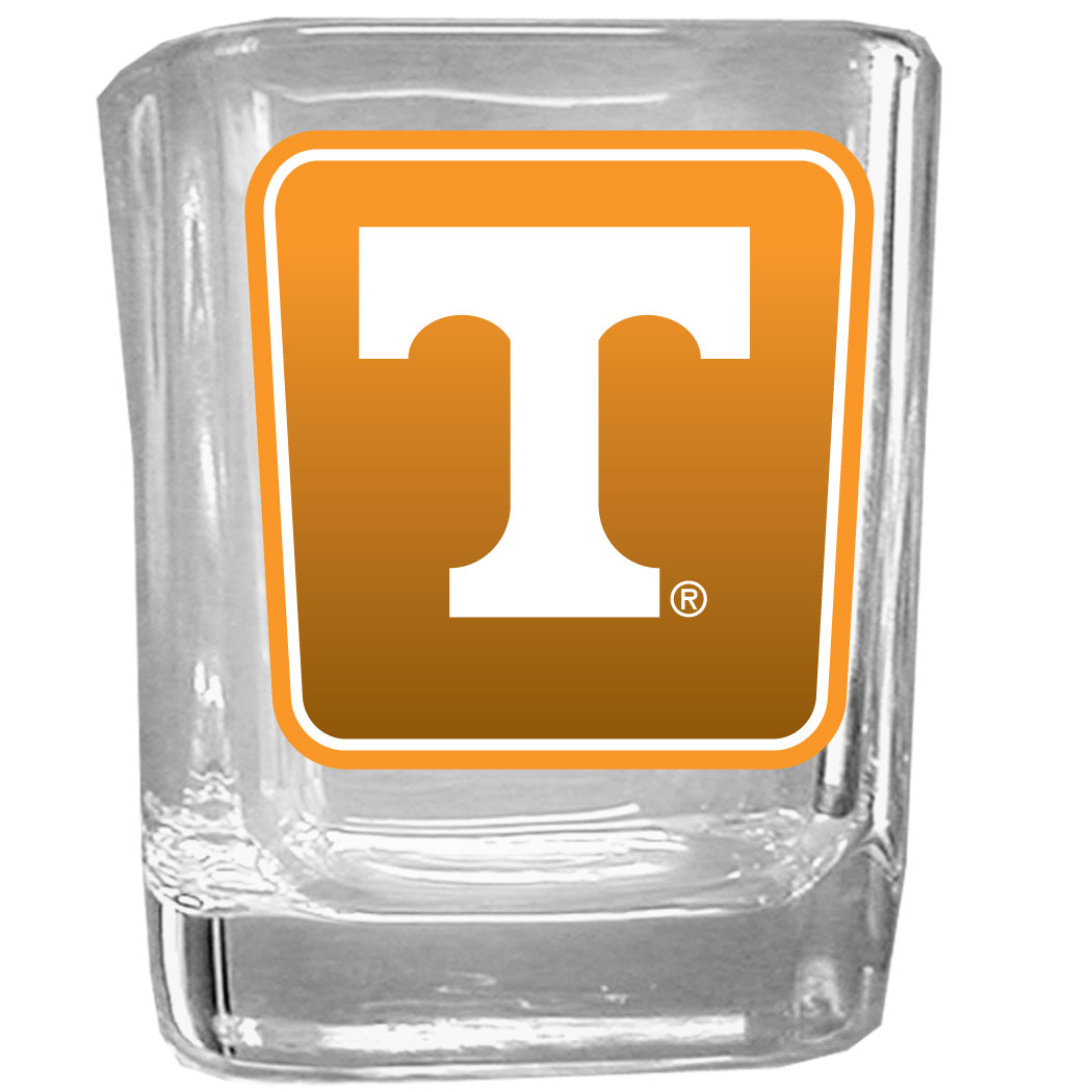 Tennessee Volunteers Square Glass Shot Glass - Our glass shot glasses are perfect for collectors or any game day event. The 2 ounce glasses feature bright, vivid digital Tennessee Volunteers graphics.