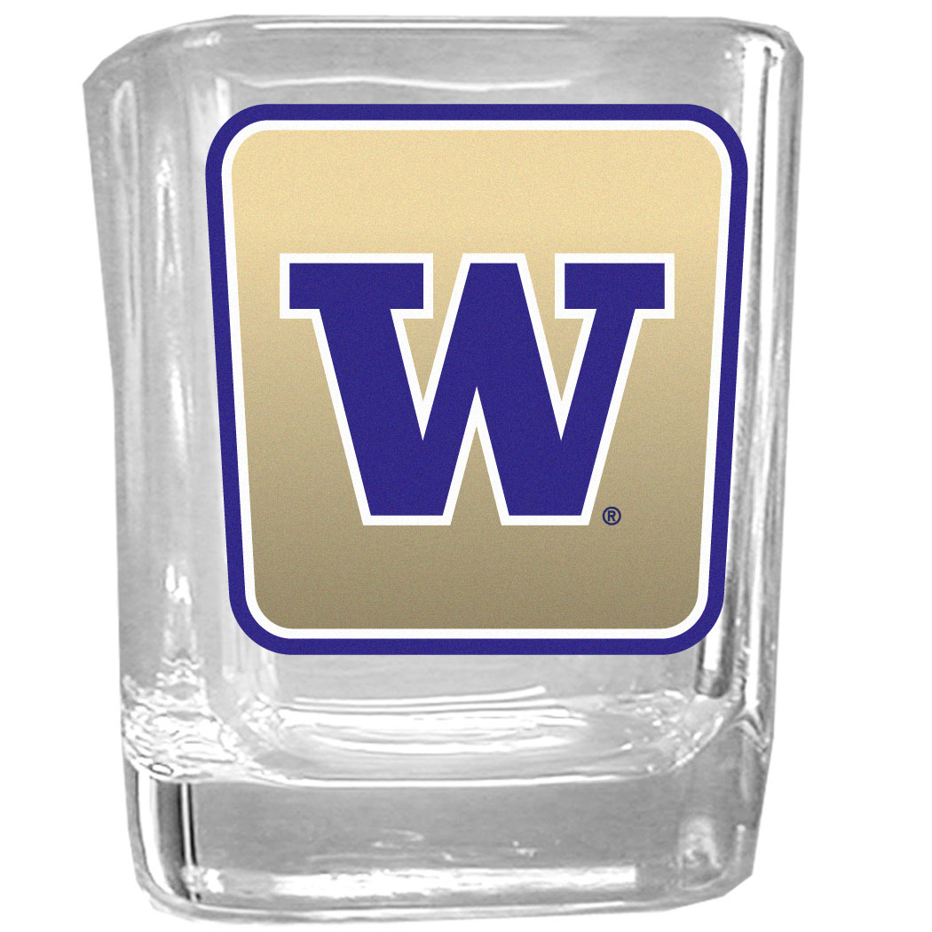 Washington Huskies Square Glass Shot Glass - College:Washington Huskies:Beverage Ware
