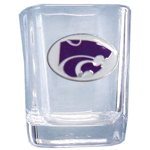 Kansas St. Wildcats 2 oz Collector's Glass - This Kansas St. Wildcats 2 oz square glass features a fully cast and enameled Kansas St. Wildcats school emblem. Kansas St. Wildcats 2 oz Collector's Glass. Thank you for shopping with CrazedOutSports.com