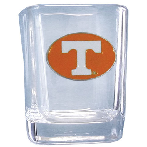 Tennessee 2 oz Collector's Glass - Our 2 oz collegiate square glass features a fully cast and enameled school emblem.  Thank you for shopping with CrazedOutSports.com