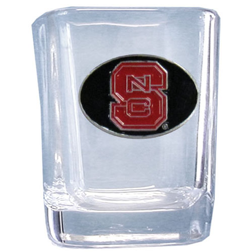 N. Carolina St. 2 oz Collector's Glass - Our 2 oz collegiate square glass features a fully cast and enameled school emblem.  Thank you for shopping with CrazedOutSports.com