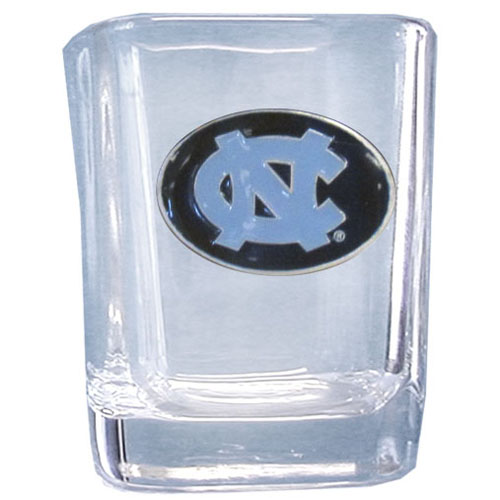 N. Carolina 2 oz Collector's Glass - Our 2 oz collegiate square glass features a fully cast and enameled school emblem.  Thank you for shopping with CrazedOutSports.com