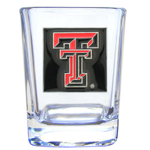 College Collector's Glass - Texas Tech Raiders - Our  college collectors 2 oz shot glass features the school logo sculpted and enameled in fine detail. The glass makes a great gift or collector's item. Check out our entire line of  collegiate products! Thank you for shopping with CrazedOutSports.com