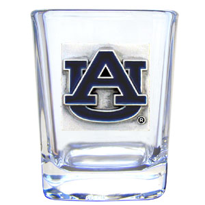 College Collector's Glass - Auburn Tigers - Our college collectors 2 oz shot glass features the Auburn Tigers school logo sculpted and enameled in fine detail. The glass makes a great gift or collector's item. Check out our entire line of  collegiate products! Thank you for shopping with CrazedOutSports.com
