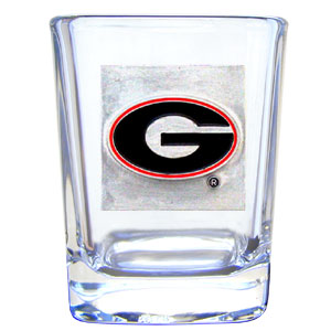 College Collector's Glass - Georgia Bulldogs - This Georgia Bulldogs college collectors 2 oz shot glass features the Georgia Bulldogs school logo sculpted and enameled in fine detail. The glass makes a great gift or collector's item. Check out our entire line of  collegiate products! Thank you for shopping with CrazedOutSports.com