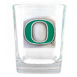 College Collector's Glass - Oregon Ducks - Our  college collectors 2 oz shot glass features the school logo sculpted and enameled in fine detail. The glass makes a great gift or collector's item. Check out our entire line of  collegiate products! Thank you for shopping with CrazedOutSports.com