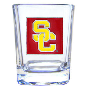 College Collector's Glass - USC Trojans - Our  college collectors 2 oz shot glass features the school logo sculpted and enameled in fine detail. The glass makes a great gift or collector's item. Check out our entire line of  collegiate products! Thank you for shopping with CrazedOutSports.com