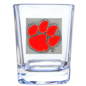 College Collector's Glass - Clemson Tigers - Our  college collectors 2 oz shot glass features the Clemson Tigers logo sculpted and enameled in fine detail. The glass makes a great gift or collector's item. Check out our entire line of  collegiate products! Thank you for shopping with CrazedOutSports.com