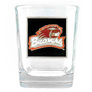 College Collector's Glass - Oregon Beavers - Our  college collectors 2 oz shot glass features the school logo sculpted and enameled in fine detail. The glass makes a great gift or collector's item. Check out our entire line of  collegiate products! Thank you for shopping with CrazedOutSports.com