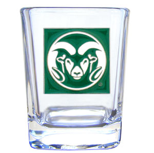 College Collector's Glass - Colorado State Rams - Our college collectors 2 oz shot glass features theColorado State Rams logo sculpted and enameled in fine detail. The glass makes a great gift or collector's item. Check out our entire line of  collegiate products! Thank you for shopping with CrazedOutSports.com