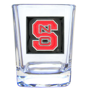 College Collector's Glass - NC State Wolfpack - Our  college collectors 2 oz shot glass features the school logo sculpted and enameled in fine detail. The glass makes a great gift or collector's item. Check out our entire line of  collegiate products! Thank you for shopping with CrazedOutSports.com