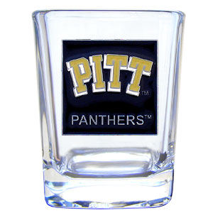 College 2 oz Glass - Pittsburgh Panthers - Our wholesale college collectors 2 oz shot glass features the school logo sculpted and enameled in fine detail. The glass makes a great gift or collector's item. Check out our entire line of wholesale collegiate products!