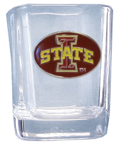 College Collector's Glass - Iowa State Cyclones - This Iowa St. Cyclones college collectors 2 oz shot glass features the school logo sculpted and enameled in fine detail. The glass makes a great gift or collector's item. Check out our entire line of  collegiate products! Thank you for shopping with CrazedOutSports.com