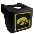 Iowa Hawkeyes Shin Shield Hitch Cover - This unique Iowa Hawkeyes hitch cover features a large Iowa Hawkeyes logo. If you have ever hooked up a trailer or boat your have probably smashed your shins on the ball hitch a few times. This revolutionary shin shield hitch cover provides your much abused shins with the protection they deserve! The tough rubber hitch is rated to work with Class V hitch receivers hauling up to 17,000 gross trailer weight and 1,700 tongue weight allowing you to leave it on while hauling. Thank you for shopping with CrazedOutSports.com