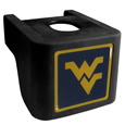 W. Virginia Mountaineers Shin Shield Hitch Cover - This unique hitch cover features a large W. Virginia Mountaineers logo. If you have ever hooked up a trailer or boat your have probably smashed your shins on the ball hitch a few times. This revolutionary shin shield hitch cover provides your much abused shins with the protection they deserve! The tough rubber hitch is rated to work with Class V hitch receivers hauling up to 17,000 gross trailer weight and 1,700 tongue weight allowing you to leave it on while hauling. Thank you for shopping with CrazedOutSports.com