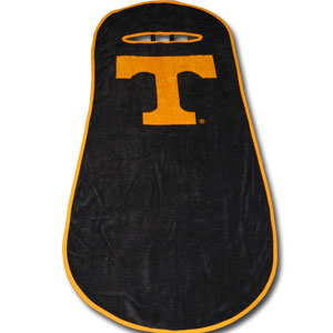 Tennessee Volunteers Seat Towels - This high quality seat towels fits most standard car and truck seats and has elastic straps that hold the decorative and functional towel in place. The school logo is featured boldly on the center of the towel.  Thank you for shopping with CrazedOutSports.com