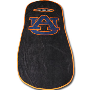 Auburn Tigers Seat Towels - This high quality seat towels fits most standard car and truck seats and has elastic straps that hold the decorative and functional towel in place. The Auburn Tigers school logo is featured boldly on the center of the towel.  Thank you for shopping with CrazedOutSports.com