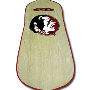 Florida St. Seminoles Seat Towels - This high quality Florida State Seminoles seat towel fits most standard car and truck seats and has elastic straps that hold the decorative and functional towel in place. The Florida State Seminoles logo is featured boldly on the center of the towel.  Thank you for shopping with CrazedOutSports.com