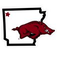 Arkansas Razorbacks Home State 11 Inch Magnet