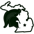 Michigan St. Spartans Home State 11 Inch Magnet