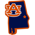 Auburn Tigers Home State 11 Inch Magnet