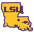 LSU Tigers Home State 11 Inch Magnet