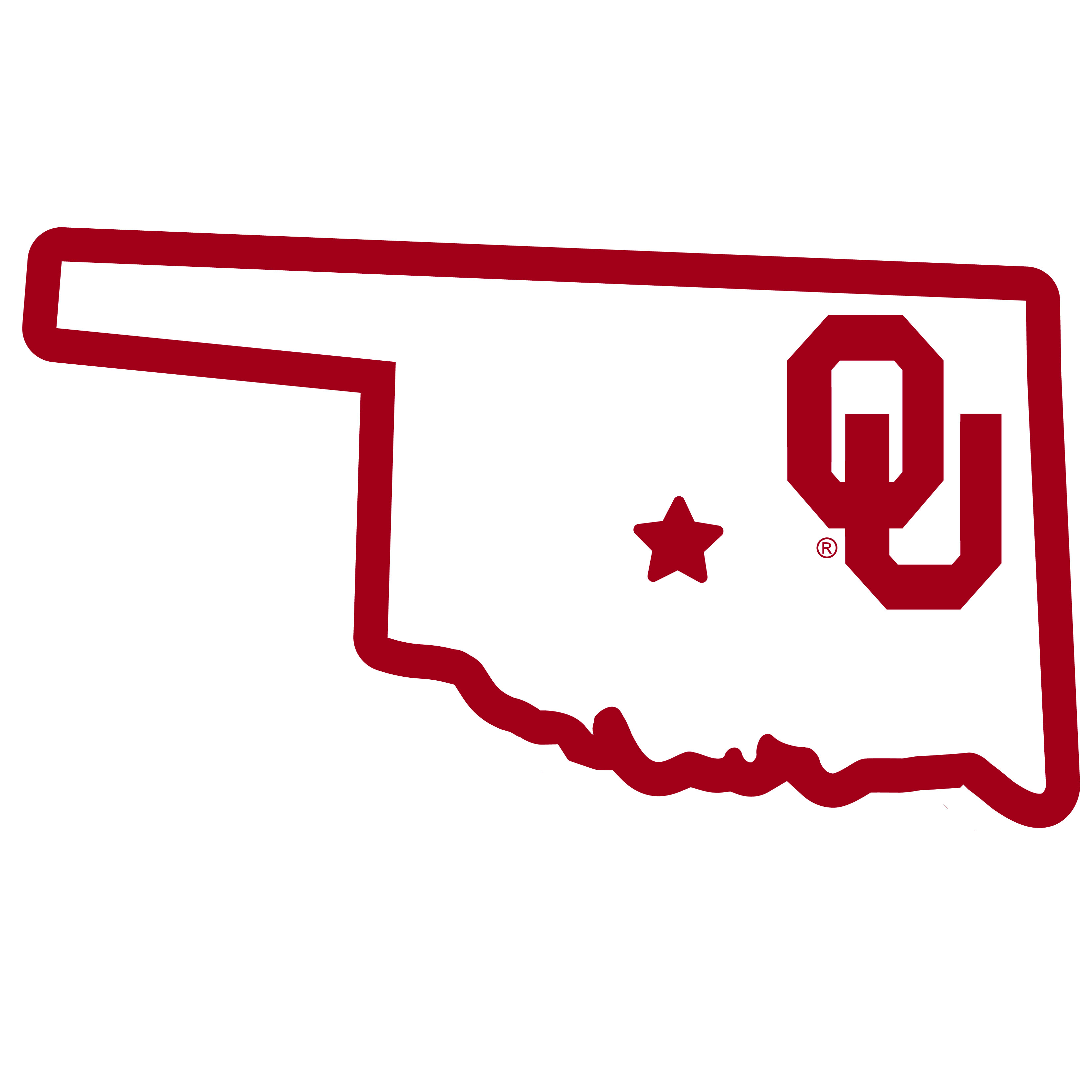 Oklahoma Sooners Home State 11 Inch Magnet - Whether you are caravaning to the game or having a tailgate party make sure you car is wearing its fan gear with our extra large, 11 inch Oklahoma Sooners home state magnets. These striking magnets can be easily placed on for game day and removed without he residue left by decals. The design features a bright state outline with the location of the team highlighted with a football and a large team logo.