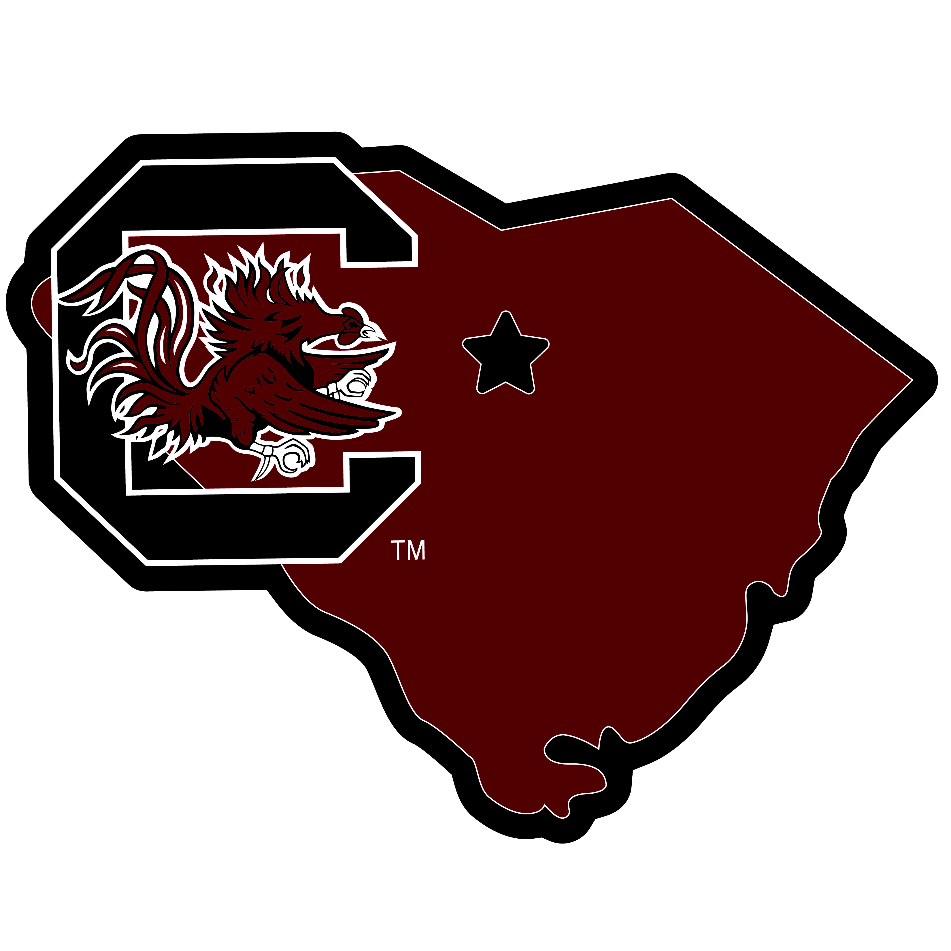 S. Carolina Gamecocks Home State 11 Inch Magnet - Whether you are caravaning to the game or having a tailgate party make sure you car is wearing its fan gear with our extra large, 11 inch S. Carolina Gamecocks home state magnets. These striking magnets can be easily placed on for game day and removed without he residue left by decals. The design features a bright state outline with the location of the team highlighted with a football and a large team logo.