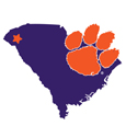Clemson Tigers Home State 11 Inch Magnet