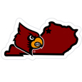 Louisville Cardinals Home State 11 Inch Magnet