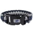 Memphis Tigers Survivor Bracelet - Our functional and fashionable Memphis Tigers survivor bracelets contain 2 individual 300lb test paracord rated cords that are each 5 feet long. The team colored cords can be pulled apart to be used in any number of emergencies and look great while worn. The bracelet features a team emblem on the clasp.