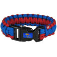 Kansas Jayhawks Survivor Bracelet - This functional and fashionable Kansas Jayhawks survivor bracelets contain 2 individual 300lb test paracord rated cords that are each 5 feet long. The Kansas Jayhawks Survivor Bracelet team colored cords can be pulled apart to be used in any number of emergencies and look great while worn. The bracelet features a team emblem on the clasp. Thank you for shopping with CrazedOutSports.com