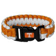 Tennessee Volunteers Survivor Bracelet - Our functional and fashionable Tennessee Volunteers survivor bracelets contain 2 individual 300lb test paracord rated cords that are each 5 feet long. The team colored cords can be pulled apart to be used in any number of emergencies and look great while worn. The bracelet features a team emblem on the clasp. Thank you for shopping with CrazedOutSports.com