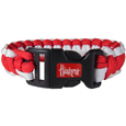 Nebraska Cornhuskers Survivor Bracelet - Our functional and fashionable Nebraska Cornhuskers survivor bracelets contain 2 individual 300lb test paracord rated cords that are each 5 feet long. The team colored cords can be pulled apart to be used in any number of emergencies and look great while worn. The bracelet features a team emblem on the clasp. Thank you for shopping with CrazedOutSports.com