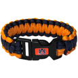 Auburn Tigers Survivor Bracelet - Our functional and fashionable Auburn Tigers survivor bracelets contain 2 individual 300lb test paracord rated cords that are each 5 feet long. The team colored cords can be pulled apart to be used in any number of emergencies and look great while worn. The bracelet features a team emblem on the clasp. Thank you for shopping with CrazedOutSports.com