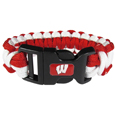 Wisconsin Badgers Survivor Bracelet - Our functional and fashionable Wisconsin Badgers survivor bracelets contain 2 individual 300lb test paracord rated cords that are each 5 feet long. The team colored cords can be pulled apart to be used in any number of emergencies and look great while worn. The bracelet features a team emblem on the clasp.
