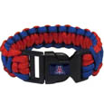 Arizona Wildcats Survivor Bracelet - Our functional and fashionable Arizona Wildcats survivor bracelets contain 2 individual 300lb test paracord rated cords that are each 5 feet long. The team colored cords can be pulled apart to be used in any number of emergencies and look great while worn. The bracelet features a team emblem on the clasp. Thank you for shopping with CrazedOutSports.com