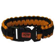 Oklahoma St. Cowboys Survivor Bracelet - Our functional and fashionable Oklahoma St. Cowboys survivor bracelets contain 2 individual 300lb test paracord rated cords that are each 5 feet long. The team colored cords can be pulled apart to be used in any number of emergencies and look great while worn. The bracelet features a team emblem on the clasp. Thank you for shopping with CrazedOutSports.com