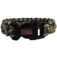 S. Carolina Gamecocks Camo Survivor Bracelet - Our functional and fashionable S. Carolina Gamecocks camo survivor bracelets contain 2 individual 300lb test paracord rated cords that are each 5 feet long. The camo cords can be pulled apart to be used in any number of emergencies and look great while worn. The bracelet features a team emblem on the clasp.  Thank you for shopping with CrazedOutSports.com
