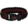 S. Carolina Gamecocks Survivor Bracelet - Our functional and fashionable S. Carolina Gamecocks survivor bracelets contain 2 individual 300lb test paracord rated cords that are each 5 feet long. The team colored cords can be pulled apart to be used in any number of emergencies and look great while worn. The bracelet features a team emblem on the clasp. Thank you for shopping with CrazedOutSports.com