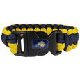 Montana St. Bobcats Survivor Bracelet - Our functional and fashionable Montana St. Bobcats survivor bracelets contain 2 individual 300lb test paracord rated cords that are each 5 feet long. The team colored cords can be pulled apart to be used in any number of emergencies and look great while worn. The bracelet features a team emblem on the clasp.